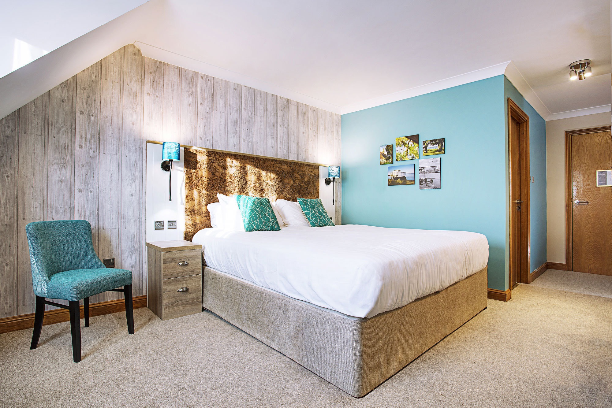 Hotel bedroom refurb by TROY group, Sinah Warren Hotel in Portsmouth