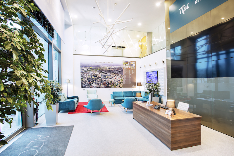Interior shot of the refitted Tipi Marketing Suite | TROY group UK