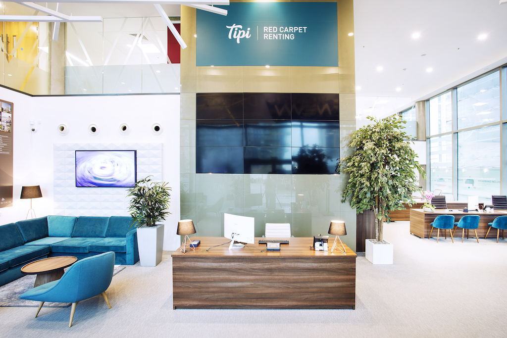 Interior shot of the refitted Tipi Marketing Suite and reception area | TROY group UK