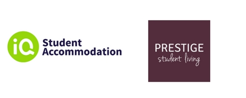 IQ Student Accommodation and Prestige Student Living - logos