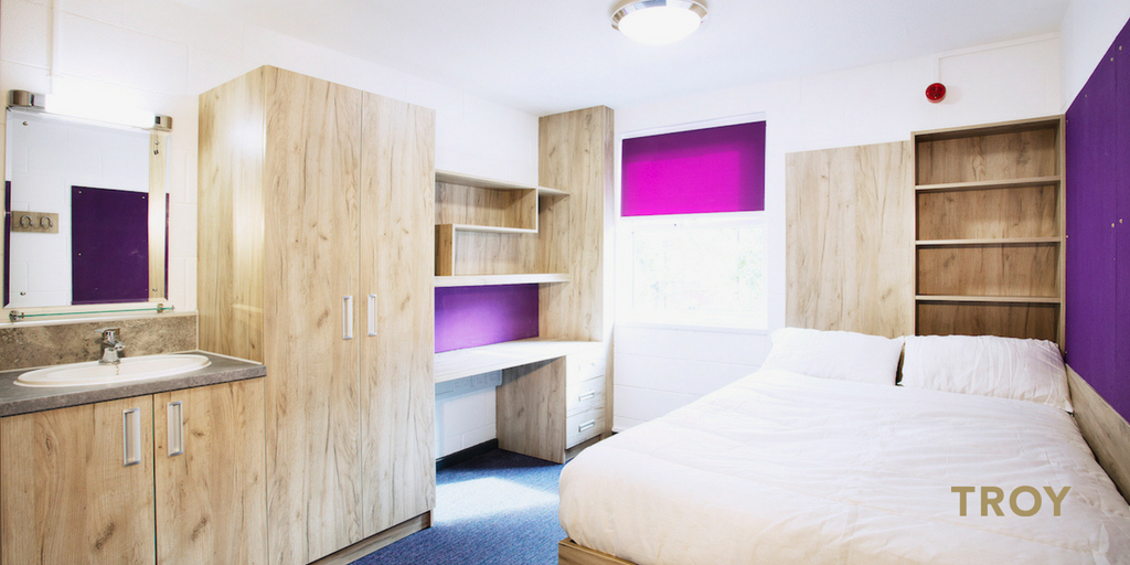 Christopher's Court accommodation at Derby University - refurbishment completed by TROY group